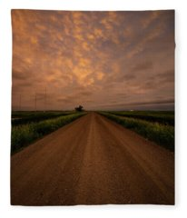 Road To Huron  Fleece Blanket