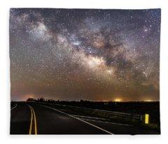 Road To Milky Way Fleece Blanket