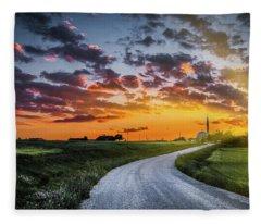Road To Sunset Fleece Blanket