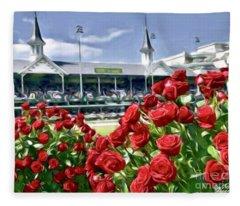 Road To The Roses Fleece Blanket