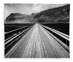 Road To Vik Fleece Blanket