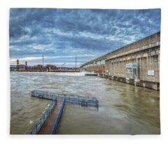 Roaring River Below Chickamauga Dam Fleece Blanket