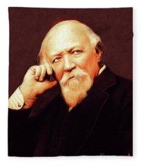 Robert Browning, Literary Legend Fleece Blanket
