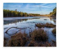 Roberts Branch Pine Lands Fleece Blanket