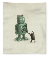 Robot Vs Alien Fleece Blanket