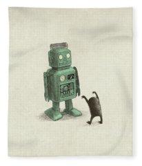 Science Fiction Drawings Fleece Blankets