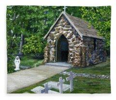 Rock Chapel Louisiana Church Fleece Blanket