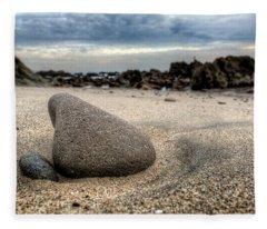 Rock On Beach Fleece Blanket