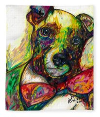Rocket The Dog Fleece Blanket