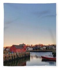 Rockport Massachusetts  Fleece Blanket