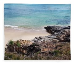 Rocks Sand And Water  Fleece Blanket
