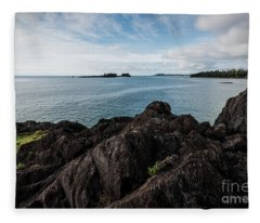 Rocky Coastline Fleece Blanket