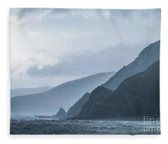 Rocky Coastline In West Wales Fleece Blanket