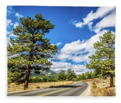 Rocky Mountain Highway Fleece Blanket