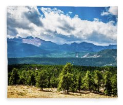 Rocky Mountain Np I Fleece Blanket
