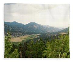 Rocky Mountain Overlook Fleece Blanket