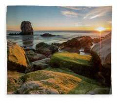 Rocky Pismo Sunset Fleece Blanket