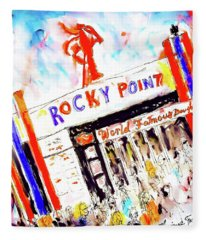 Rocky Point Chowder House Fleece Blanket