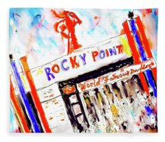 Rocky Point Chowder House Fleece Blanket