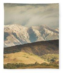 Rocky Rural Region Fleece Blanket