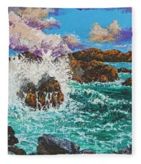 Rocky Splash Fleece Blanket
