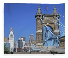 Roebling Bridge Fleece Blanket