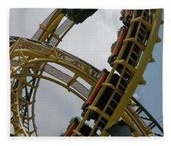 Roller Coaster Loops Fleece Blanket
