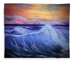 Rollin On The Rocks Fleece Blanket