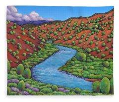 Rolling Rio Grande Fleece Blanket