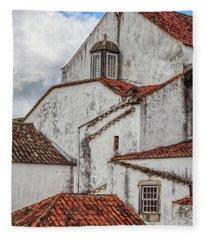 Rooftops Of Obidos Fleece Blanket