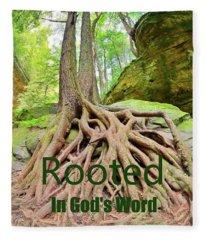 Rooted In God's Word Fleece Blanket