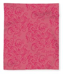 Rose Colored Fern Pattern Fleece Blanket