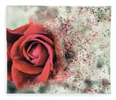 Rose Disbursement Fleece Blanket
