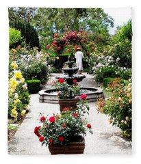 Rose Garden Fleece Blanket