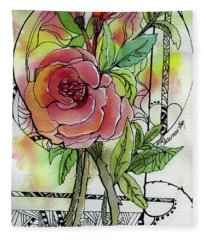 Rose Is Rose Fleece Blanket