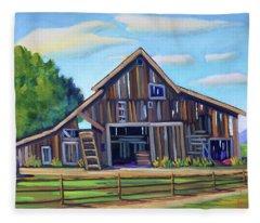 Roseberry Barn Fleece Blanket