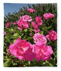 Roses Up To The Sky Fleece Blanket