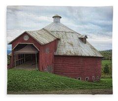 Round Barn - Mansonville, Quebec Fleece Blanket