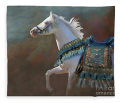 Fleece Blanket featuring the digital art Royal Blue by Melinda Hughes-Berland