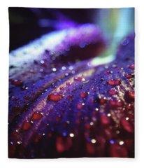 Ruby Blue Fleece Blanket
