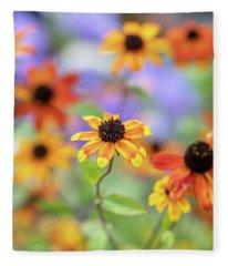 Rudbeckia Triloba Prairie Glow Flowers Fleece Blanket