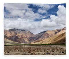 Fleece Blanket featuring the photograph Rugged Himalayan Mountains by Whitney Goodey
