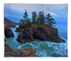Rugged Sea, Rugged Coast, Fleece Blanket