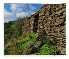 Ruins Of A Schist Cottage In Alentejo Fleece Blanket