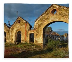 Ruins Of The Abandoned Mine Of Sao Domingos. Portugal Fleece Blanket