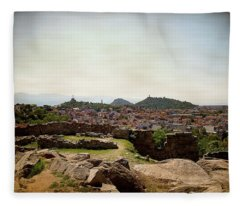 Ruins On The Top Of The Hill Fleece Blanket