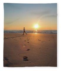 Run Free Fleece Blanket
