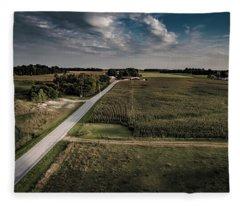 Rural Evening Fleece Blanket