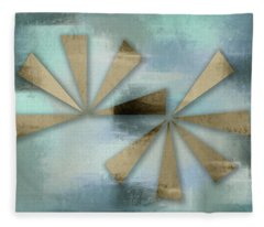 Rusted Triangles On Blue Grey Backdrop Fleece Blanket