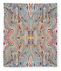 Rythmn And Flow Fleece Blanket